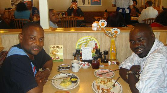 IHOP: me and my homie ready to dig in
