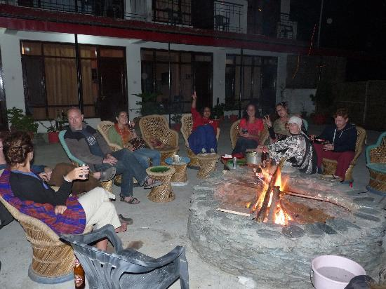 Sidharth House: Camp fire party on the terrace with guests and friends