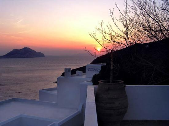 Aegiali, Grecia: Sunset from the Hotel