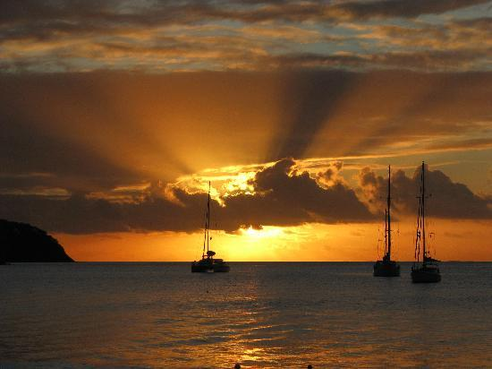 Castries, St. Lucia: Sunset at Reduit beach
