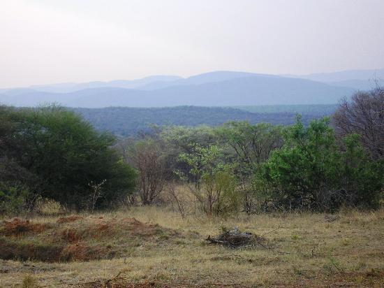 Mabula Private Game Reserve, South Africa: View from the rear deck, we could see forever