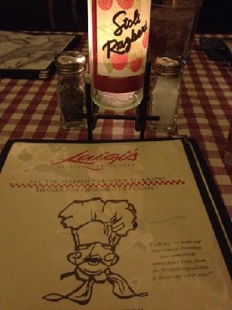 Luigi's Italian Restaurant : great Italian food!