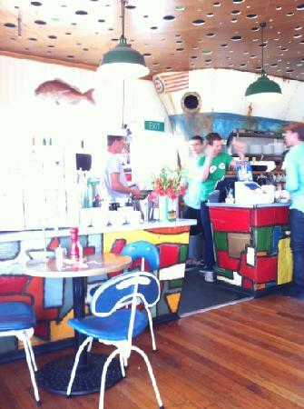 Maranui Surf Lifesaving Cafe: the dancing crew