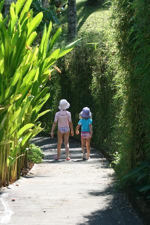 Kima Bajo Resort & Spa, Manado: Kids en route to the pool!