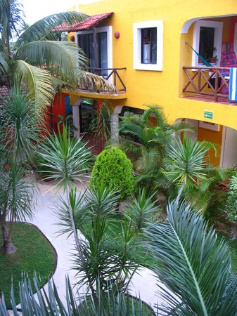 El Acuario Hotel: the courtyard from my room