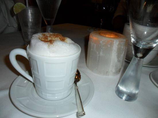The St. Regis Punta Mita Resort: The cappuccino at La Carolina