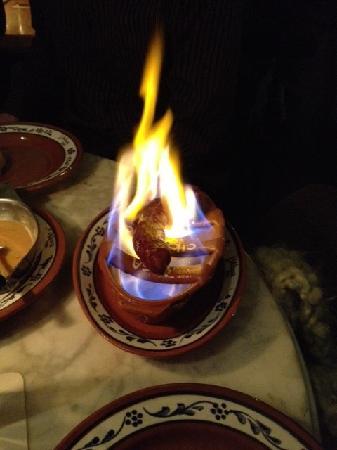 Lisboa Bar: flambierte Chorizo