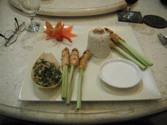 Balam Bali Villa: One of our beautiful meals
