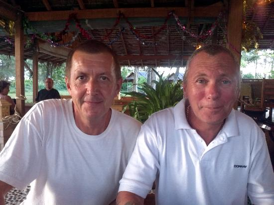 Seaside Cottages & Restaurant : malcolm and dave