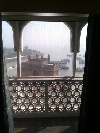The Taj Mahal Palace: view of Gateway to India from our room