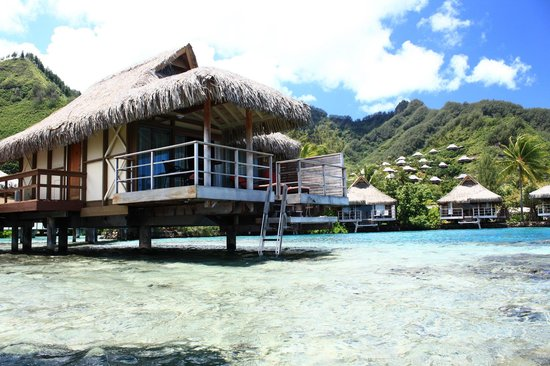 InterContinental Resort & Spa Moorea: Bungalow 512 and water depth