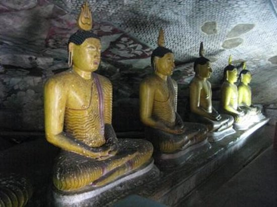 Dambulla, Sri Lanka: inside rock cave temple