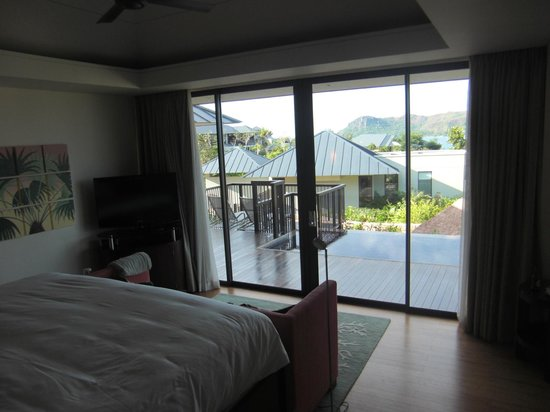Raffles Seychelles: view from bedroom