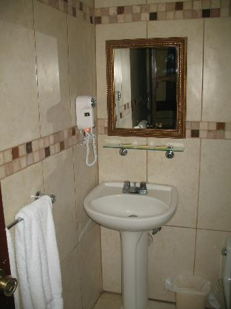 Albatros Condo Hotel: Bathroom, hairdryer