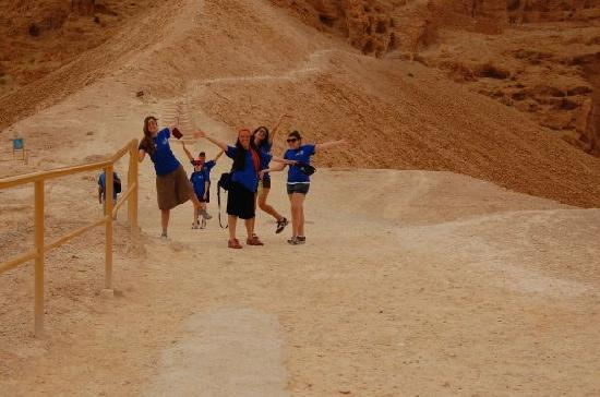 Shalom Israel Day Tours : Climbing Masada via the Roman Ramp!