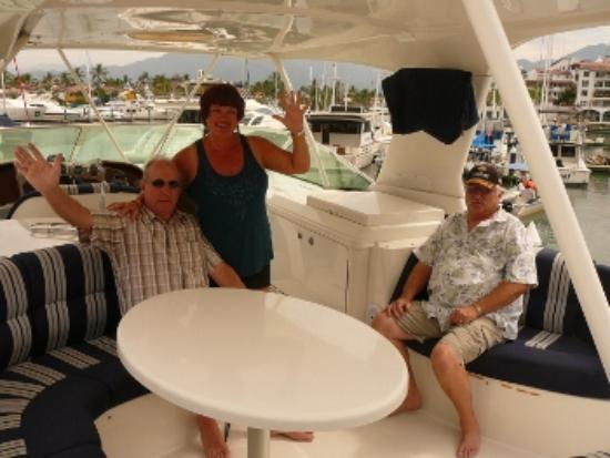 Mystique Yacht Luxury Charters: My Husband with Mike and Linda