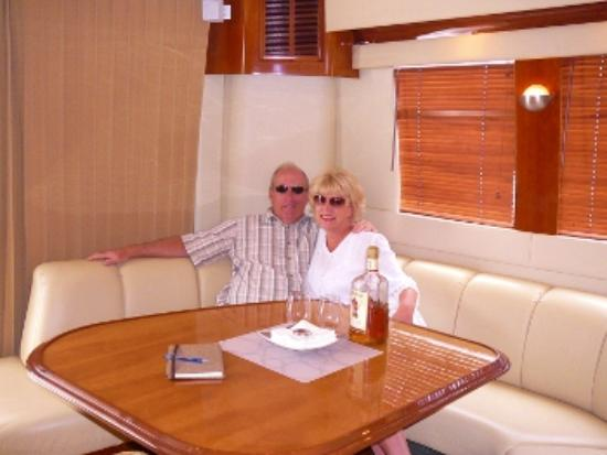 Mystique Yacht Luxury Charters: My Husband and I In Yachts Galley