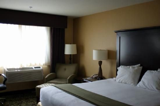 Holiday Inn Express Hotel & Suites Woodland Hills: easy chair and the noisy aircon