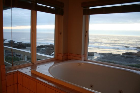 Overleaf Lodge & Spa : A tub with a view
