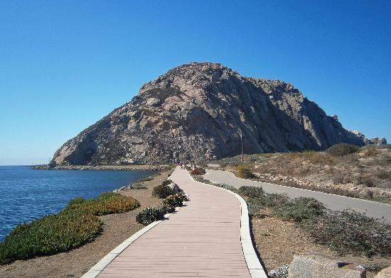 Morro Bay, Californië: Boardwalk to Morro Rock