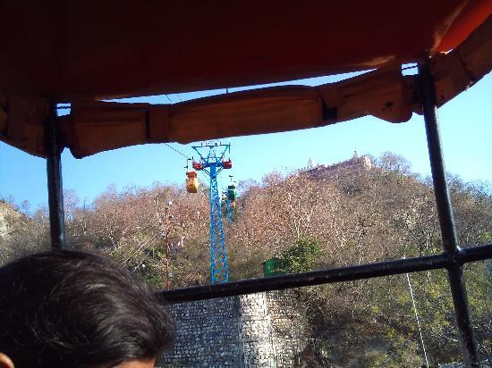 Mansa Devi Temple: view from cable car