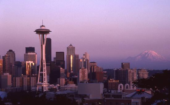 Seattle Sunset On Kodachrome Picture Of Kerry Park