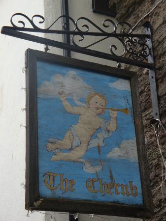 The Cherub Inn Restaurant: Cherub signage