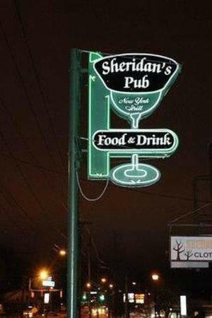 Sheridan's Pub : Outside Sign Sheridan's Irish Pub Rochester
