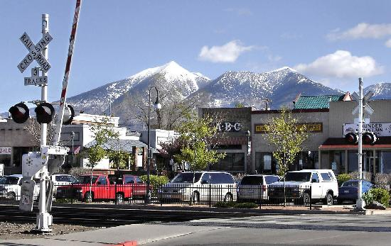 Historic Downtown Flagstaff & San Francisco Peaks