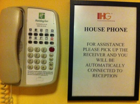 Holiday Inn Leeds Brighouse: no worries- simply it does not work !