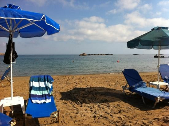 Hotel Christina: stranda en tidlig morgen