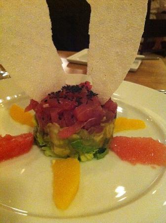 Mii amo, a destination spa: tuna avocado appetizer