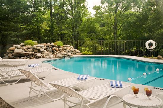 The Pool and Waterfalls at the Sugar Hill Inn