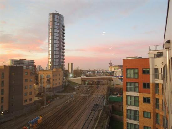 Picture of view from the window towards the Westfield Shopping ...