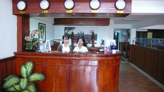 Khmer City Hotel: Reception