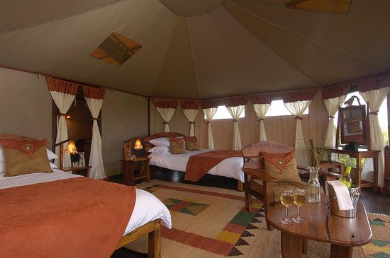 Tipilikwani Mara Camp - Masai Mara: Humongous Twin Bedded Double Beds