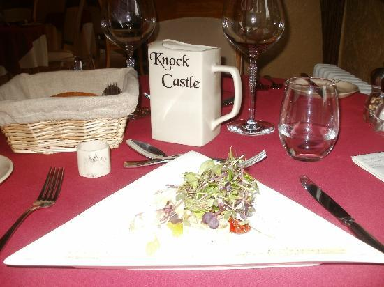 Knock Castle Hotel & Spa: the food and crockery with Knock castle name!