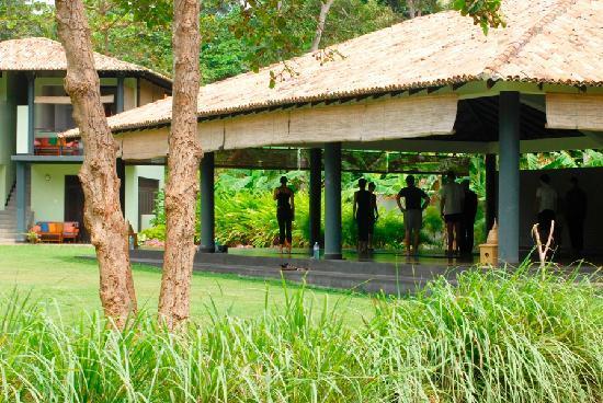 Talalla Retreat: Huge outdoor yoga shala