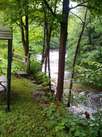 Inn by the Mill: View upstream from the Hot Tub