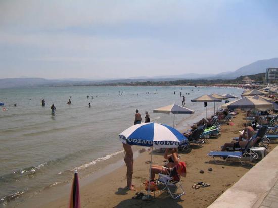 Georgioupolis Beach Hotel: stranda nedenfor hotellet