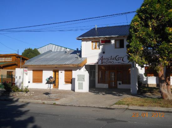 Anochecer Andino: Vista del hostel