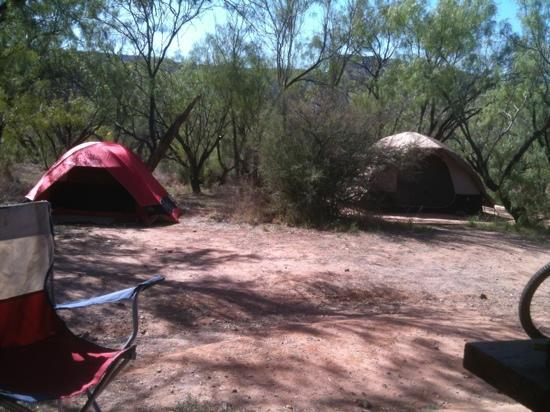 Palo Duro Canyon State Park: campsite in mesquite campground