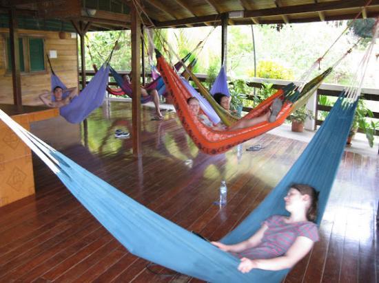 Hotel La Cascada: 2nd floor hammocks