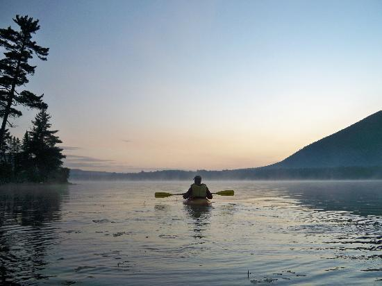 Spencer Pond Camps: Kayak in the morning - photo courtesy of Terri Munn