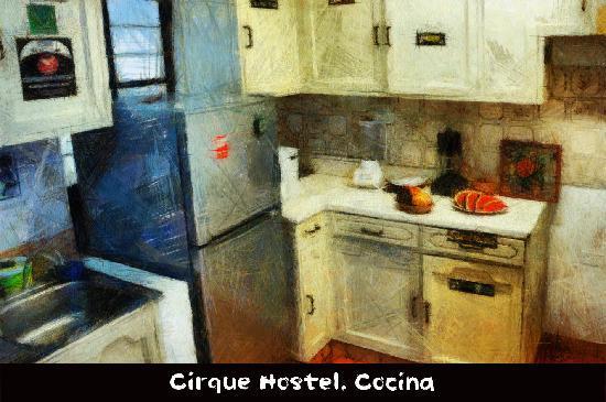 Cirque Hostel: Cocina