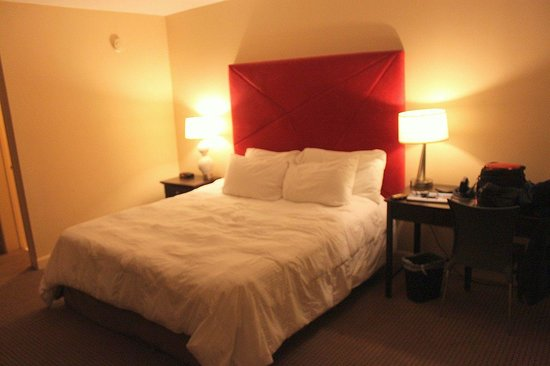 The Thunderbird Inn: The comfortable bed in our room, number 206.  The comforter was great, too!