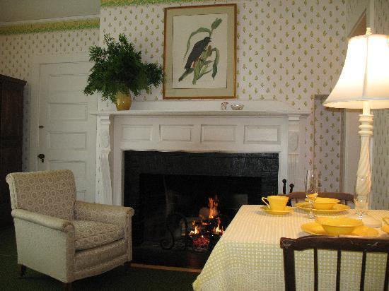 Harbourside Inn: Dine by the fire in Room #1