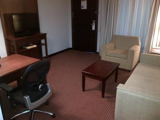 Embassy Suites by Hilton Valencia-Downtown : sala de estar