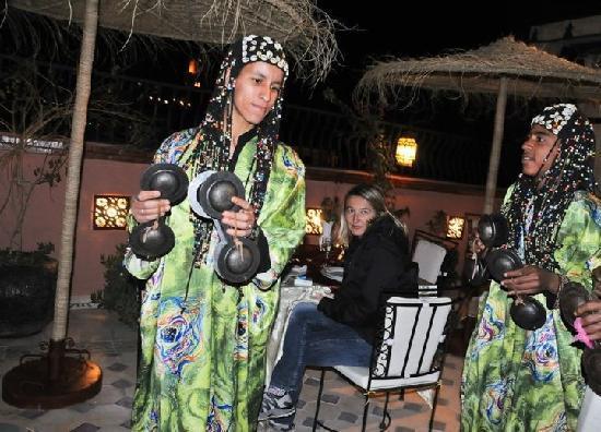 Riad Hamdane & SPA: Terrasse soiré 2012