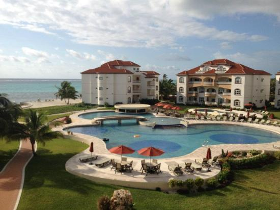 Grand Caribe Belize Resort and Condominiums : Caption from our deck